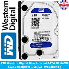 "DVR Hard Drive 1TB 2TB 4TB WD Blue, 3.5"" HDD, SATA III - 6Gb/s, 5400 RPM, 64MB"