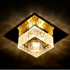 3W Modern Crystal LED Ceiling Light Square Fixture Hallway Pendant Lamp