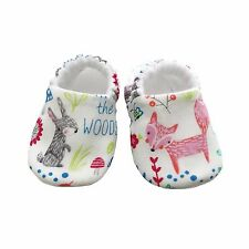 baby pram shoes, soft sole shoes, crib shoes, first walkers, bibs White Animals