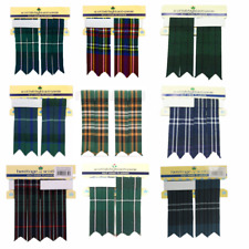 New BNWT Scottish Highland Wedding Kilt Flashes in Various Colours