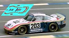 Calcas Porsche 961 Le Mans 1987 203 1:32 1:43 1:24 1:18 decals