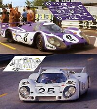 Calcas Porsche 917 LH Le Mans Test 1970 3 25 1:32 1:24 1:43 1:18 slot decals