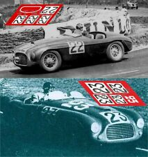 Calcas Ferrari 166 MM Spider Le Mans 1949 22 23 1:32 1:24 1:43 1:18 slot decals