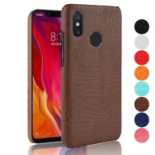 Vintage Croco PU Leather Hard Back Case For Xiaomi Mi 8 6 Mix Max 2 2S 5S Plus