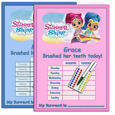 Shimmer & Shine TOOTH BRUSHING Teeth Cleaning Routine Reward Chart