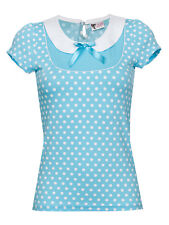 Pussy Deluxe Candy Love Collar Shirt hellblau