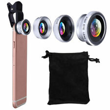 3 In1 Fish Eye Wide Angle Macro Camera Lens Clip-on for Universal Cell Phone