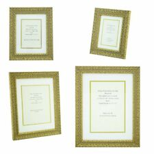 Ornate Gold Shabby Chic Vintage Picture Frame White/Gold mount 6x4 - 12x8  photo
