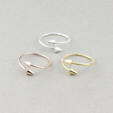 ADJUSTABLE STUD PLATED DOUBLE ARROW SPIKE MIDI FINGER THUMB RING FOR WOMEN