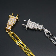 1226897267467g fully iced out diamante chain mens jewellery hip hop necklace gold silver aloadofball Choice Image