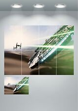 Millennium Falcon TIE Fighter Star Wars Giant Wall Art poster Print