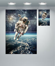 Astronaut In Space With A Carlsberg Beer Canvas Print Wall Art A2 A1 A0 Sizes