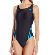 adidas Infinitex 1 piece Swimming Costume Black BNWT free 1st delivery AB7032