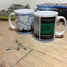 Great North Run Number inspired finishers gift - GNR Results Personalised Mug