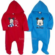 Disney Mickey Mouse Baby Boys Polar Fleece All in One 6-24 Months New 2017/18