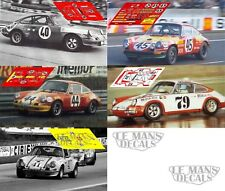 Calcas Porsche 911S Le Mans 1972 40 44 45 79 1:32 1:24 1:43 1:18 911 slot decals