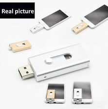 color argento INPUT flash USB Drive connettore per iPad 4, iPod 5, iPhone 5S