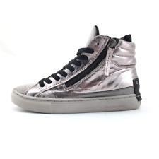 Crime London 55332 scarpa bambina sneakers stringata in pelle e glitter rame