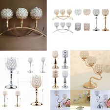 Upscale Crystal Tabletop Tealight Candle Holder Candlestick Wedding Party Decor