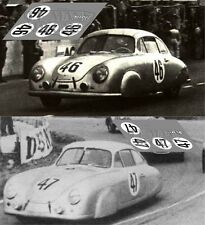 Calcas Porsche 356 Le Mans 1951 46 47 1:32 1:24 1:43 1:18 slot decals