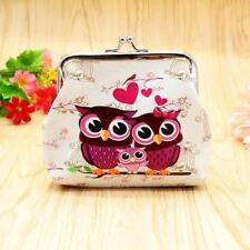 Ladies Girls Owl Love Heart Coin Purse Mini Wallet Clutch Stocking Filler Gift