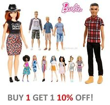 Barbie Fashionistas Ken Doll Denim Stripes Blocked Green Check Blue Vest, Barbie