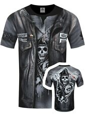 Spiral Sons Of Anarchy Jax Wrap All Over Print Men's Black T-shirt