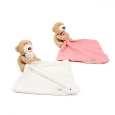 New Born Baby Infant Cartoon Bear Security Blanket Towel