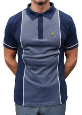 WIGAN CASINO NAVY OXFORD PANEL PIQUE POLO SHIRT NORTHERN SOUL MOD CLOTHING MODS