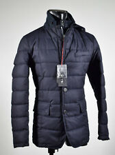Giacca Field Jacket Talenti Blu in eco piuma con pettorina anti vento staccabile