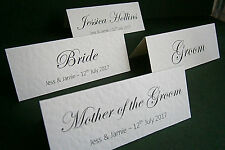 60 Personalised Wedding Place Cards, Name Cards - White, Ivory - Made to Order