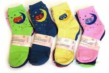 3 12 Pairs Ladies Womens Assorted Coloured Cotton Blend Casual Socks Adults 9-11