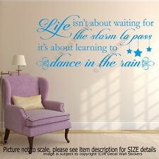 Dance In The Rain Art Wall Stickers Quotes Wall Decals Wall
