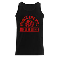 Pierce The Veil ' Saw' Mens TANK VEST - NUOVO E ORIGINALE