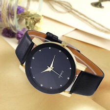 Men's Women's Luxury Stainless Steel Quartz Sport Leather Band Dial Wrist Watch