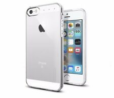 "Funda SILICONA 100% TRANSPARENTE para APPLE IPHONE SE 4G 4"" + CRISTAL TEMPLADO"