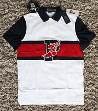 Polo Ralph Lauren The Stadium Polo Shirt P-Wing 1992 White Red Blue S M L XL New