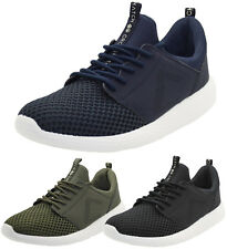 Mens Crosshatch Lightweight Breathable Mesh Gym Running Sneakers Trainers Shoes