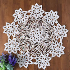 Handmade Cotton Hollow Floral Tablecloth Placemat Round Crochet Table Cover 60CM