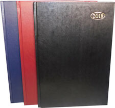 2018 Office Diary - A4 A5 Week to view hard back diary planner with page marker