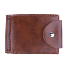 Bifold Slim PU Leather Money Clip Wallet for Men with ID Case Credit Card Holder
