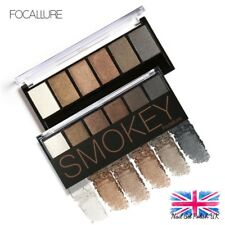 Focallure Eye Shadow Palette 6 Colours Natural Mineral Based Smokey Colour Shade