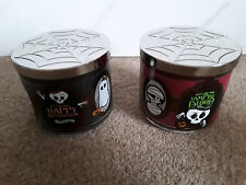 ****HAPPY HALLOWEEN**** 3 Wick Candles Bath and Body Works 2017
