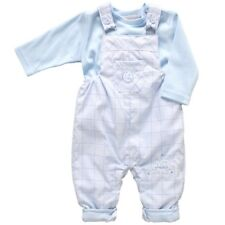 NEW IN BABY BOYS 2 PIECE TRAIN APPLIQUE DUNGAREE SET