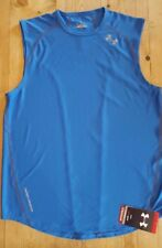 Under Armour Men's Heatgear Draft 3 Sleeveless Running T shirt Blue 1207909 485