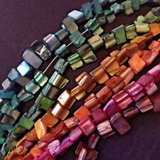 5 Strands Shell Nugget Beads | Approx 50pcs per Strand | 8 x 10mm | PICK COLOUR