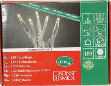 Konstsmide 6354-123 LED Lichterkette, innen, 100 Dioden, transparent, warmweiß