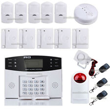 LCD WIRELESS SECURITY GSM AUTODIAL SMS HOME HOUSE OFFICE BURGLAR INTRUDER ALARM