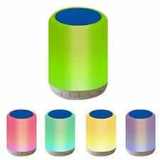 Smart LED Bluetooth Night Light Speaker 5W Wireless Hanging Travel Lamp Portable