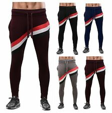 ROCKBEERY Neuf homme rayé Jogging, Bas Survêtement, Track Pull Pantalon Jogging